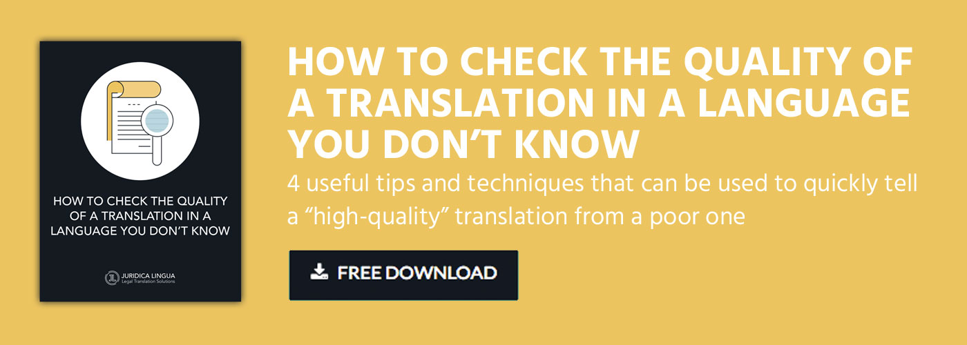 QUALITY OF A TRANSLATION- Free Guide